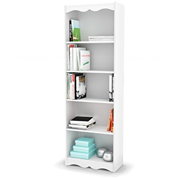 sonax hawthorn 72-inch tall bookcase, frost white ZFNAOQX