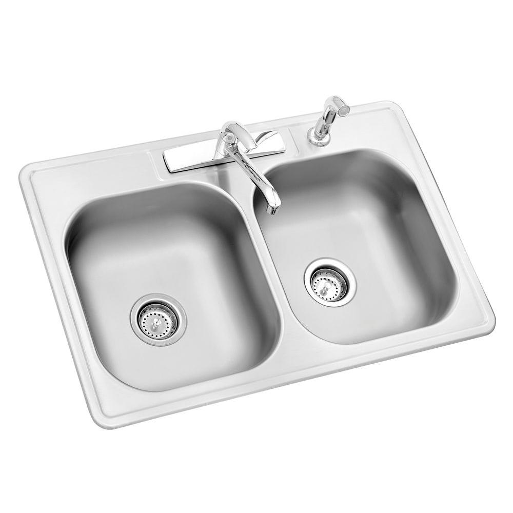 stainless steel kitchen sinks all-in-one drop-in stainless steel ... ELCATOG