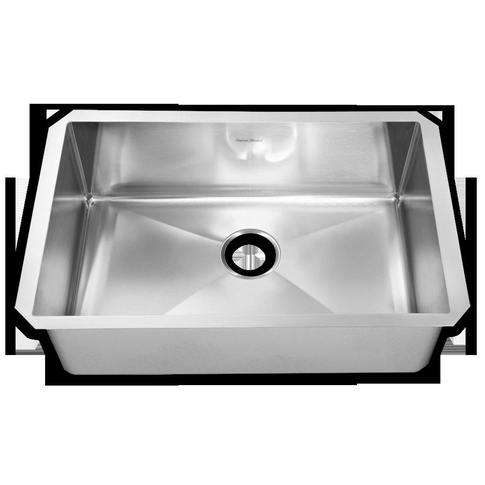 stainless steel kitchen sinks prevoir stainless steel undermount 1-bowl kitchen sink - american standard URLDYWJ