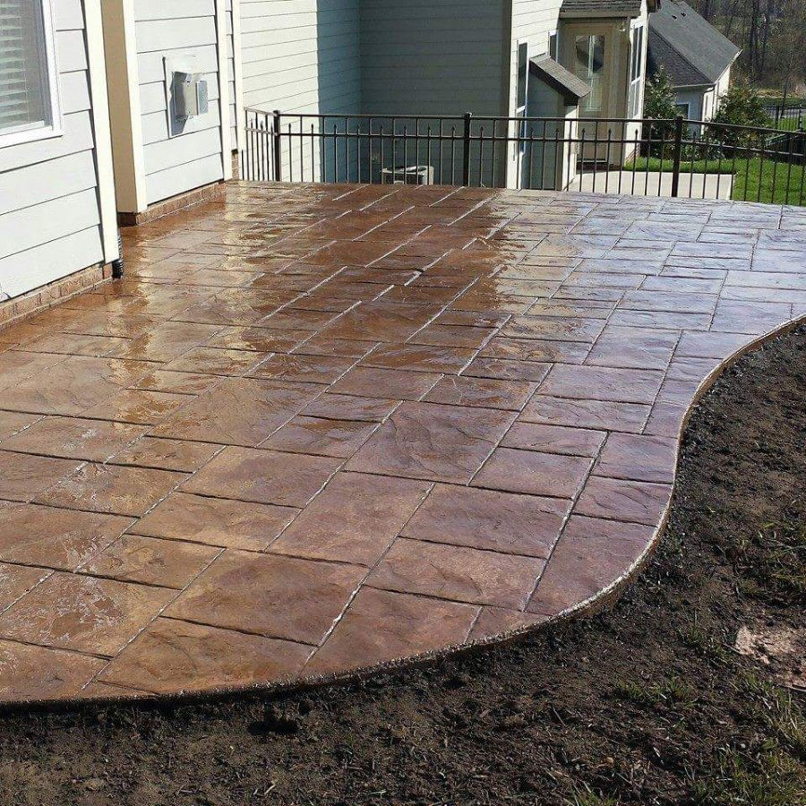 stamped concrete garrett construction proudly installs custom colored and stamped decorative  concrete patios, sidewalks RDCLCCJ