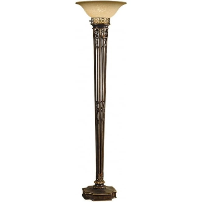 standard lamps opera aged brass uplighter floor lamp with scavo glass shade THBWIMX