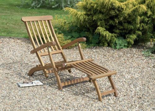 steamer chairs hardwood garden loungers grey oiled finish SAJIRML