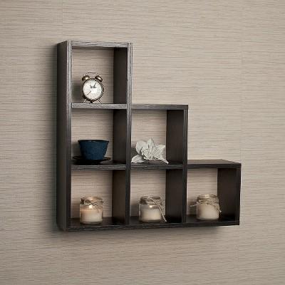 stepped six cube decorative wall shelf OCPOJKZ