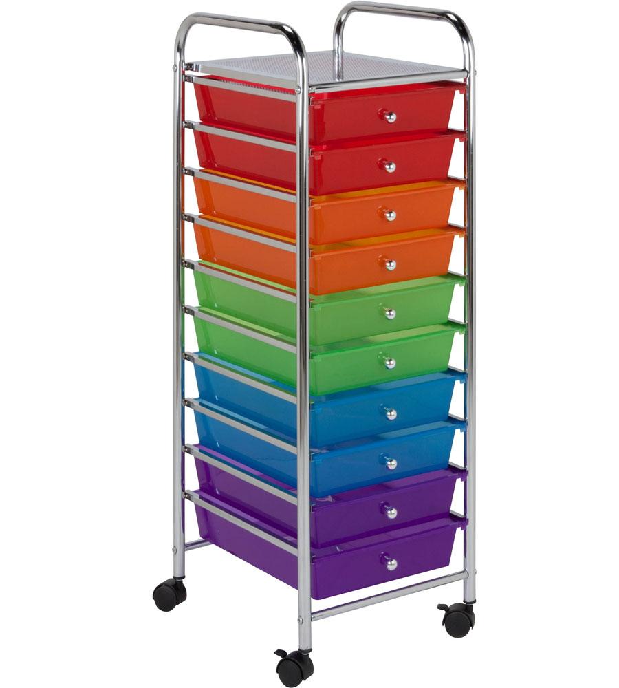 storage drawers ... 10 drawer storage cart SCXSAEN