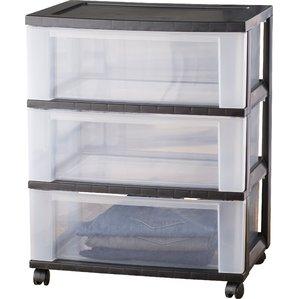 storage drawers wayfair basics wide 3 drawer storage cart FLEAILR