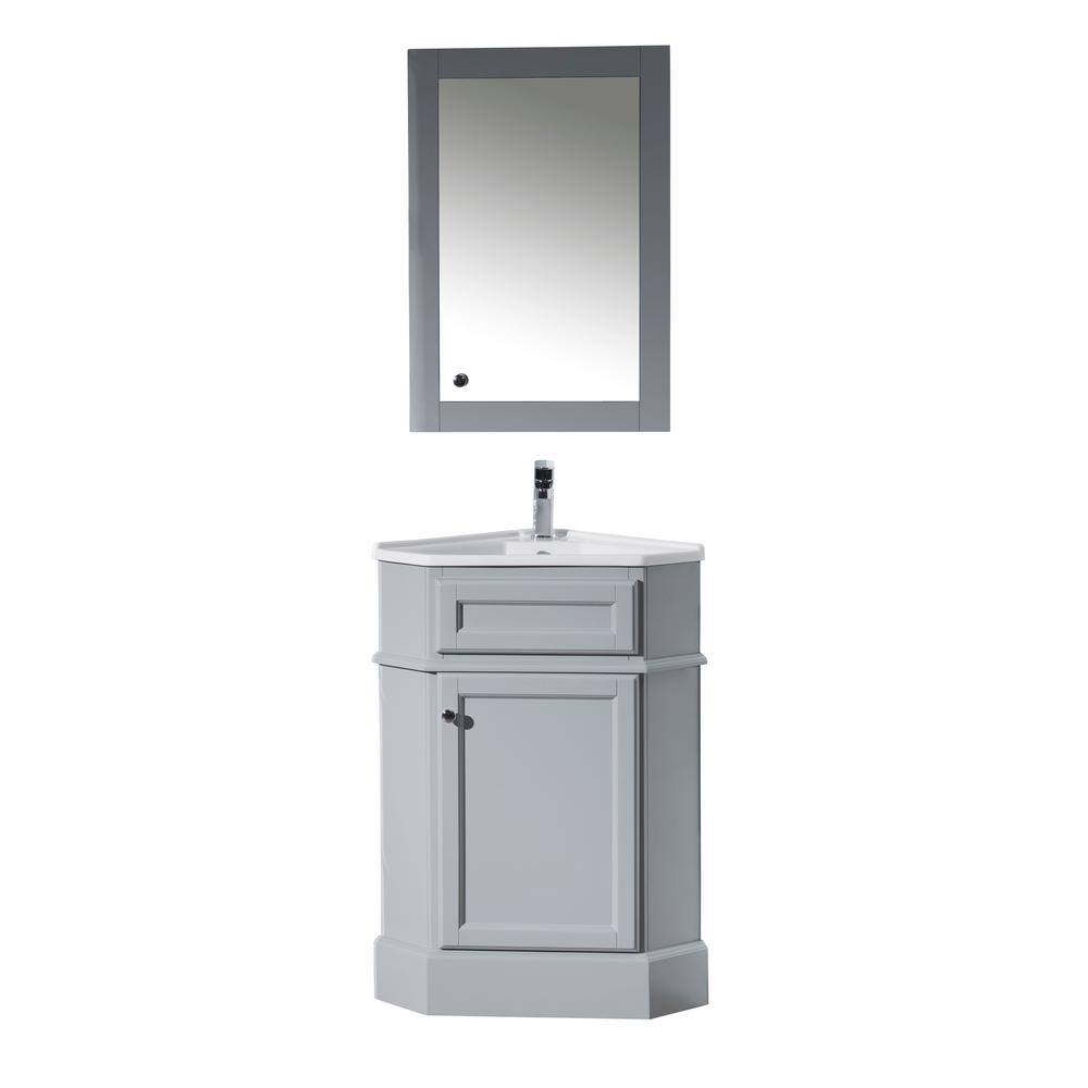stufurhome hampton 27 in. w x 18 in. d corner vanity in grey KUMEGRK