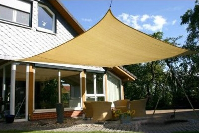 sun shade heavy duty sun sail shade - large 16u0027x14u0027 rectangle - available in sand IBNJUNK
