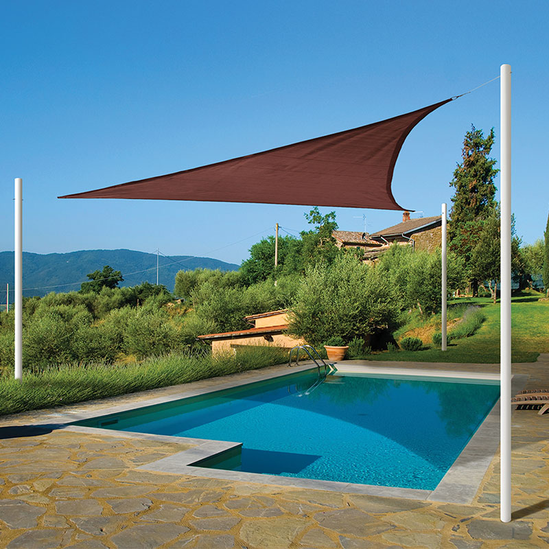 sun shade sail triangle, terracotta - shade cloth and sails EKQWGVQ