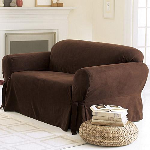 sure fit soft suede sofa cover NENRJFC