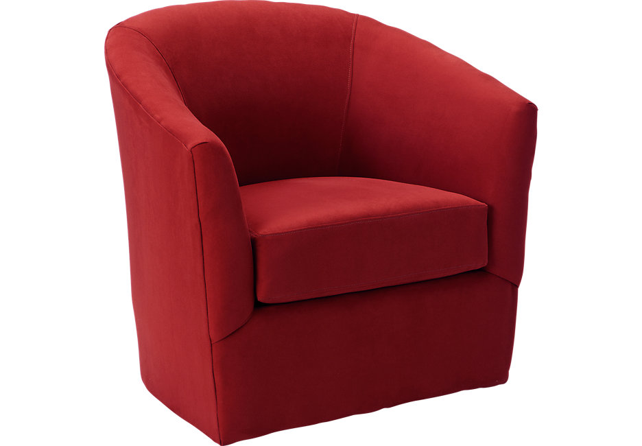 swivel chairs brynn cardinal swivel chair - chairs (red) XMJOFXL