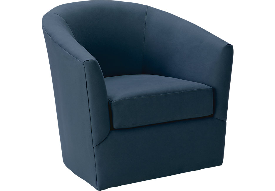 swivel chairs brynn indigo swivel chair - chairs (blue) QBLFNWK