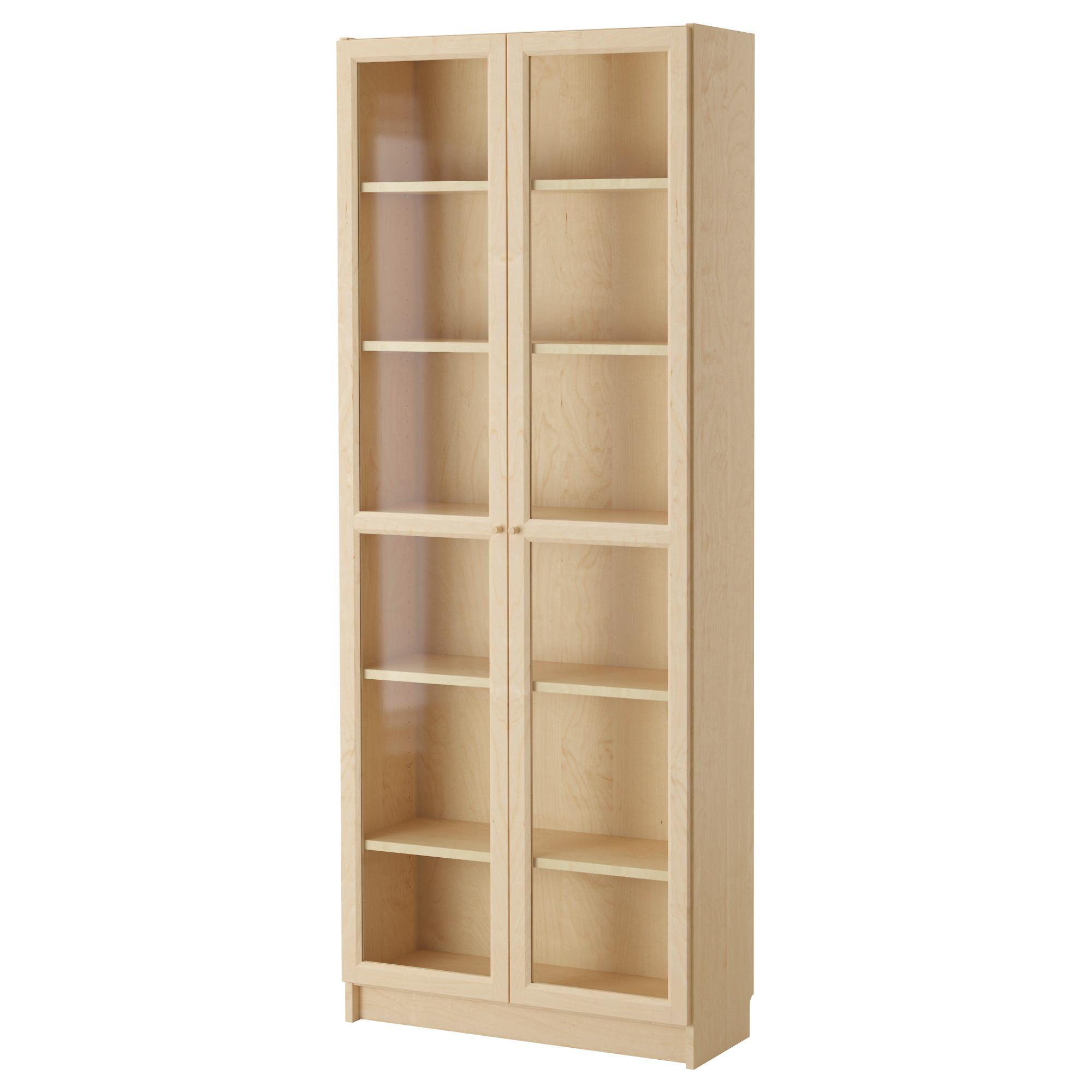 tall bookshelves billy / oxberg bookcase, birch veneer width: 31 1/2  TGLELKV