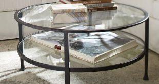 tanner round coffee table - bronze finish | pottery barn CWMGSUE