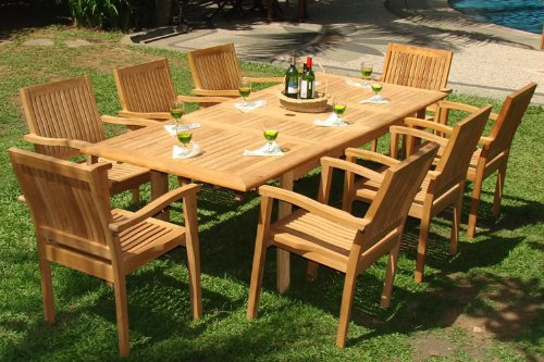 teak garden furniture 9-piece-teak-dining-set IQDMTXT