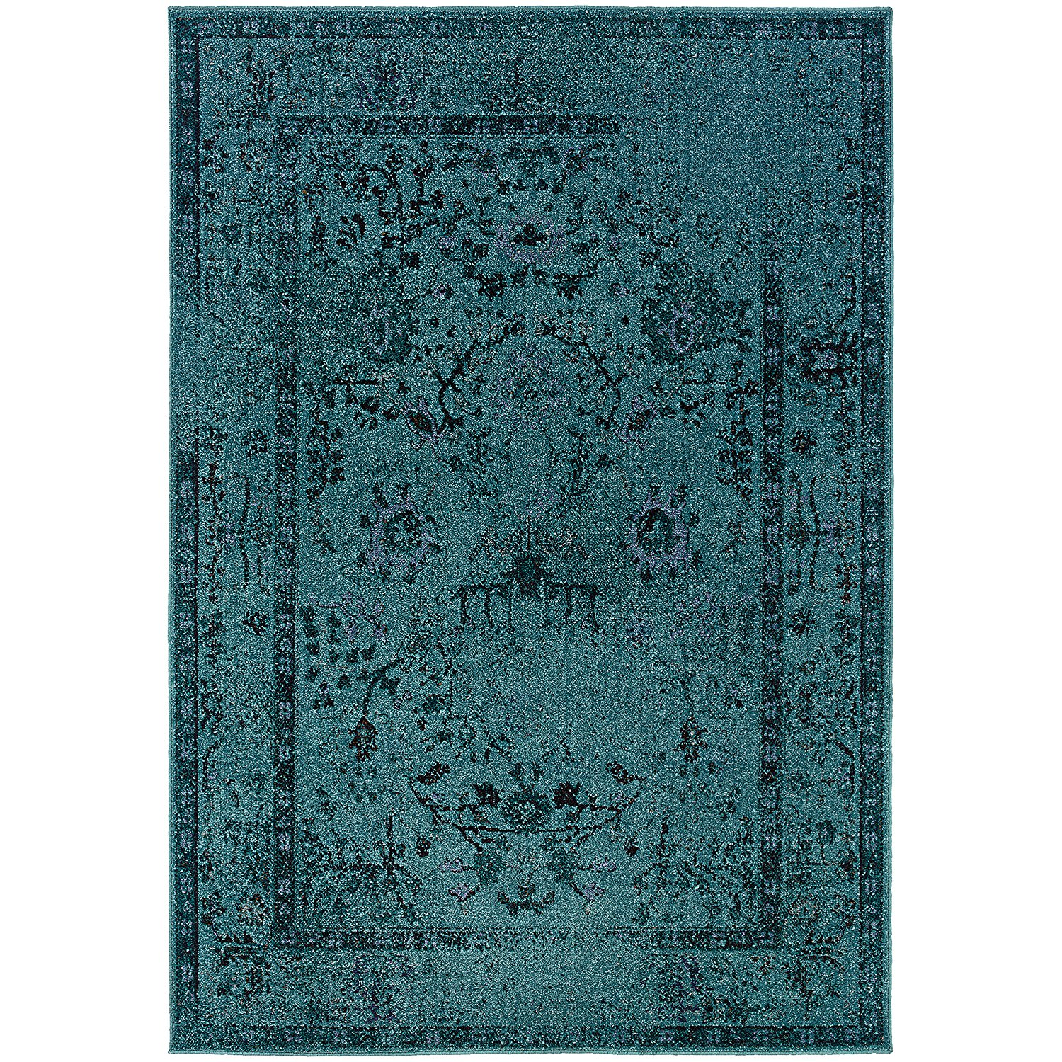 teal rugs amazon.com: oriental weavers revival 550h area rug 5u0027 3 x 7u00276 DKSPKTX