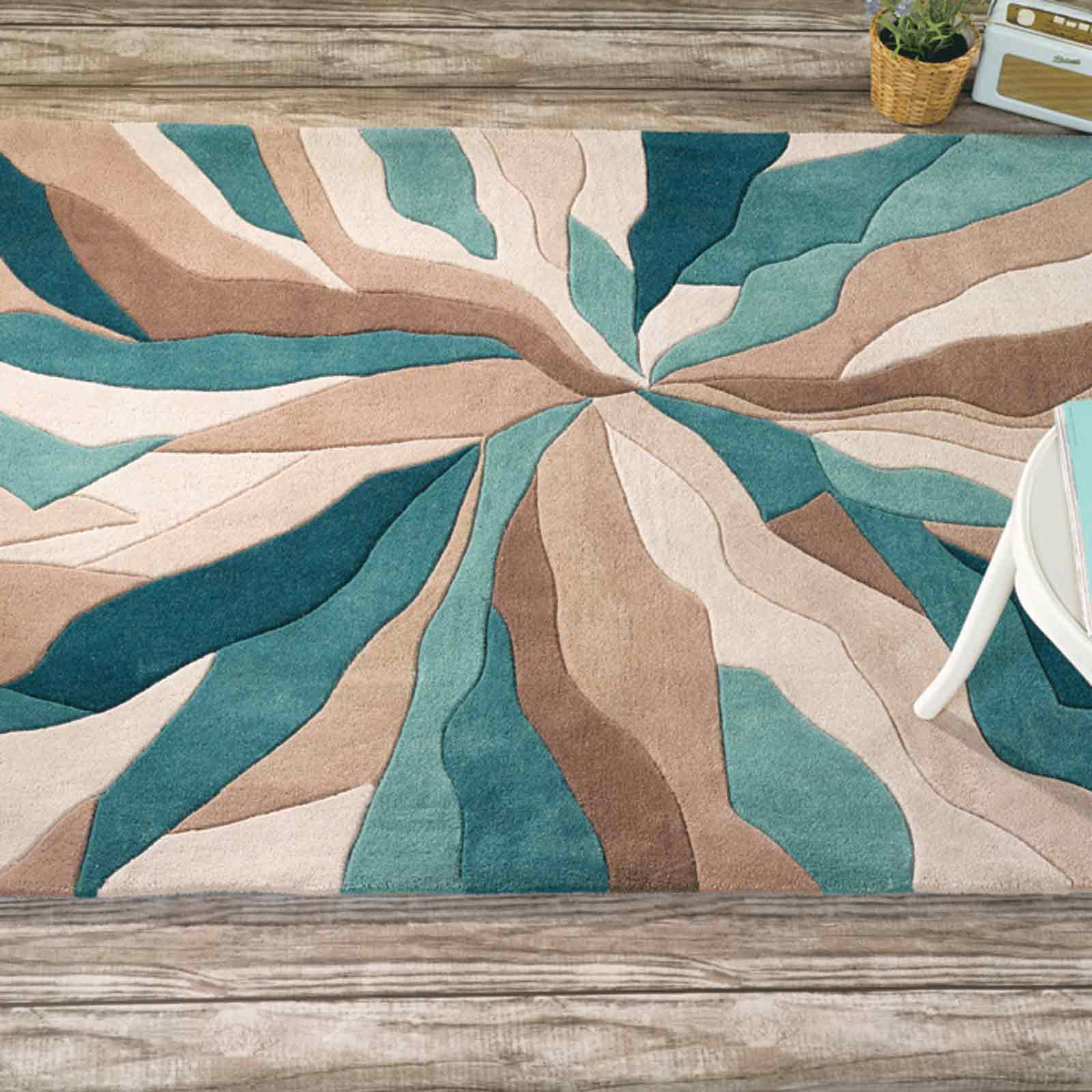 teal rugs infinite splinter rugs in teal FRHHSYP