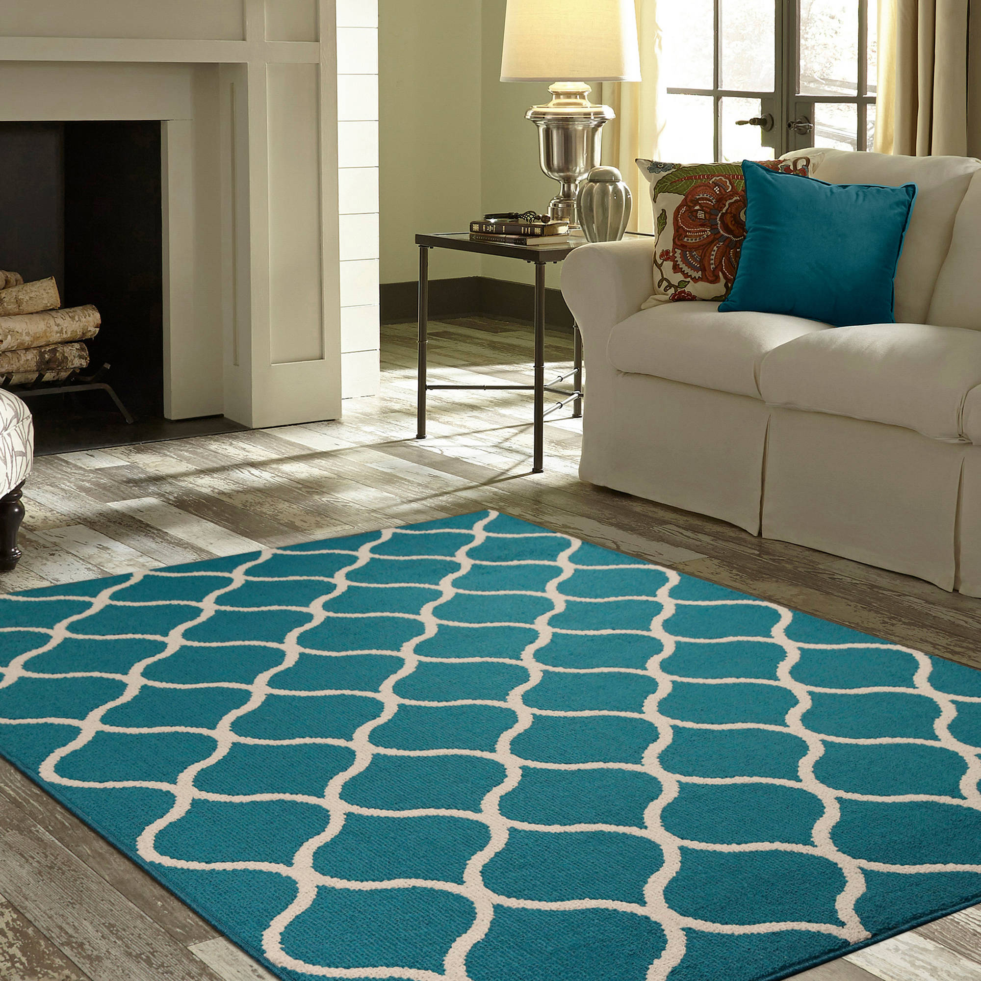 teal rugs mainstays sheridan area rug or runner TOUJMGP