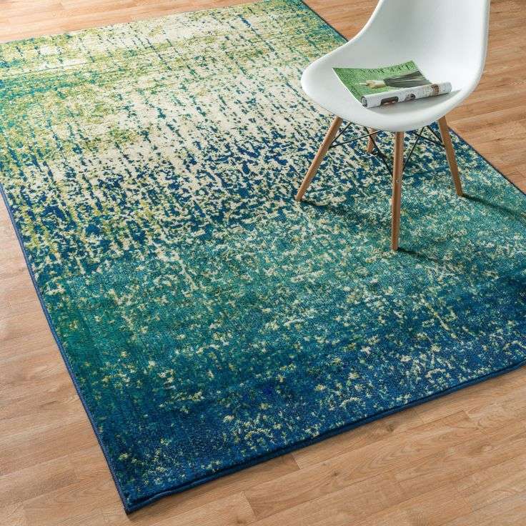 teal rugs skye monet blue cascade rug (7u00277 x 10u00275) | overstock GPWLUYE