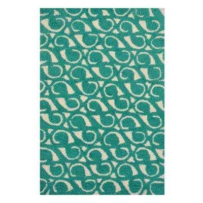 teal rugs yang ... CAFNVAE