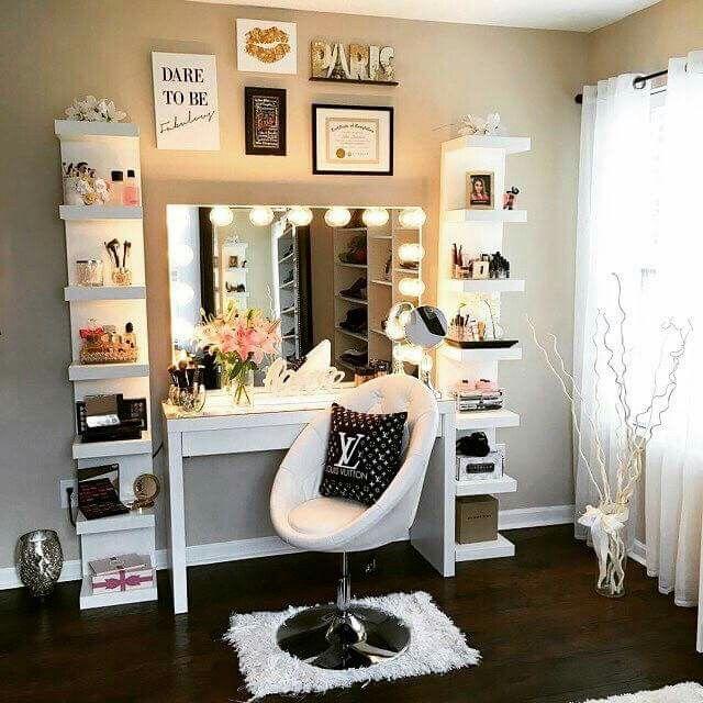 teenage bedrooms makeup room inspiration more · teen girl bedroomsshared ... UELKADN