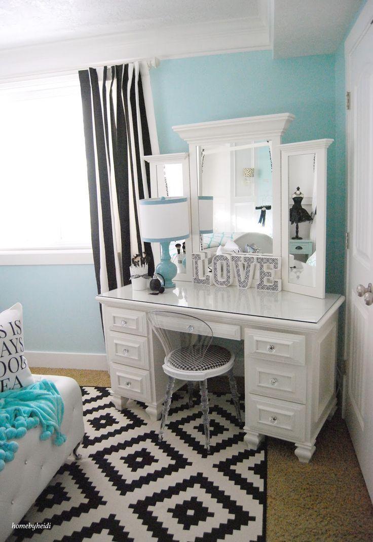 teenage girls bedrooms 23 decorating tricks for your bedroom. vanity roombedroom makeup vanityteen  ... NBQOSGH