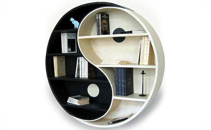 the yin yang bookshelf - cool bookshelves BKDHUZK