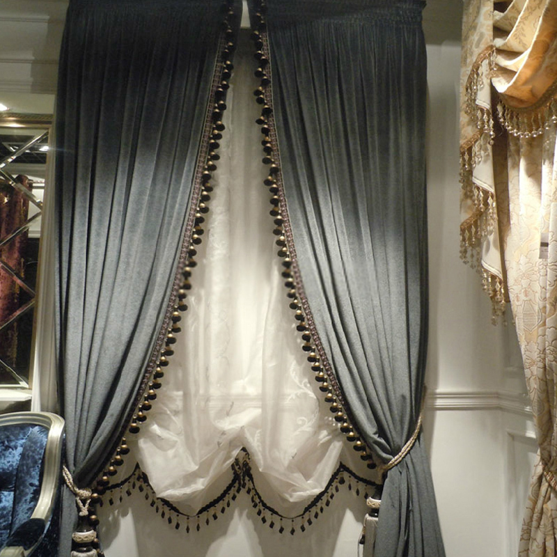 thick velvet curtains with sense of elegant style for home HPLFCSW
