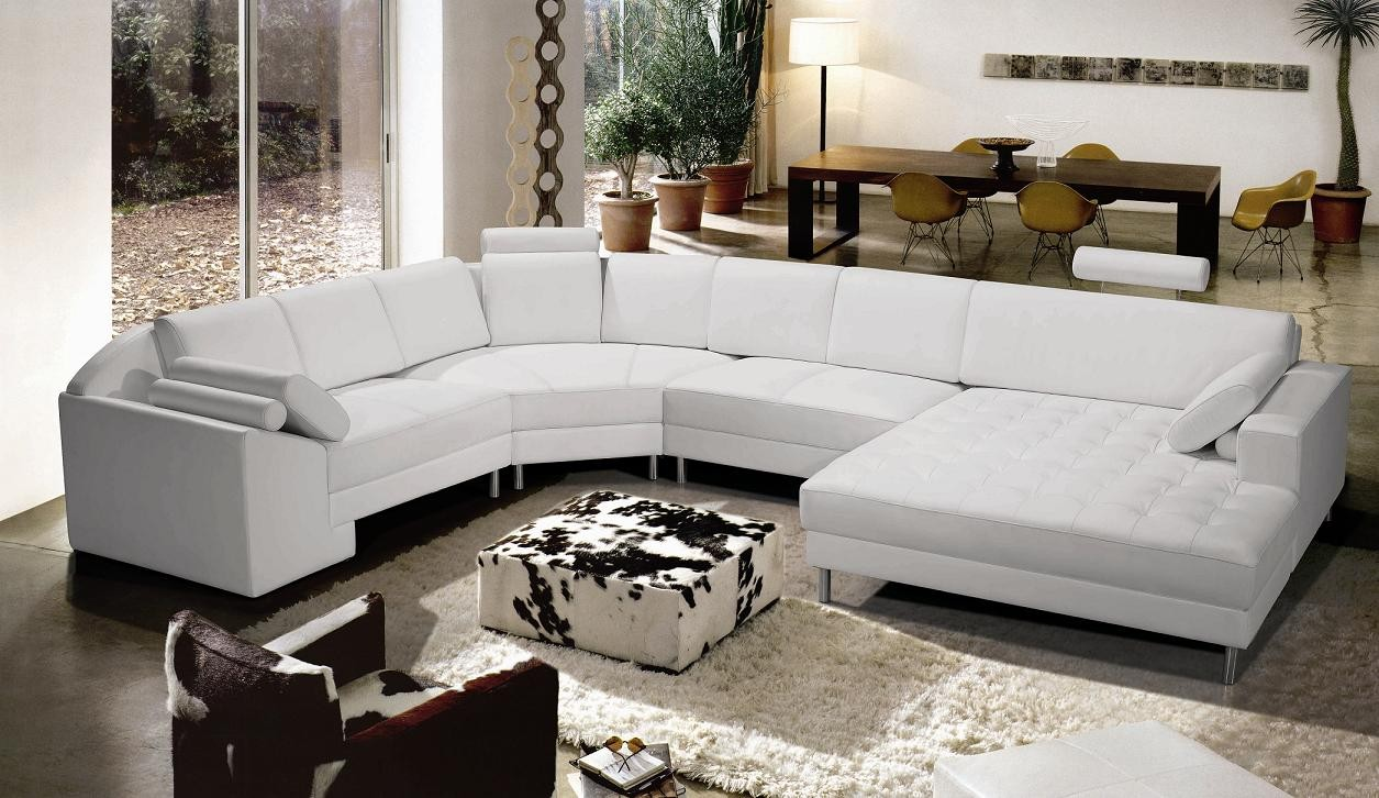 tosh furniture modern white sectional sofa. note: ... BJJVPQE