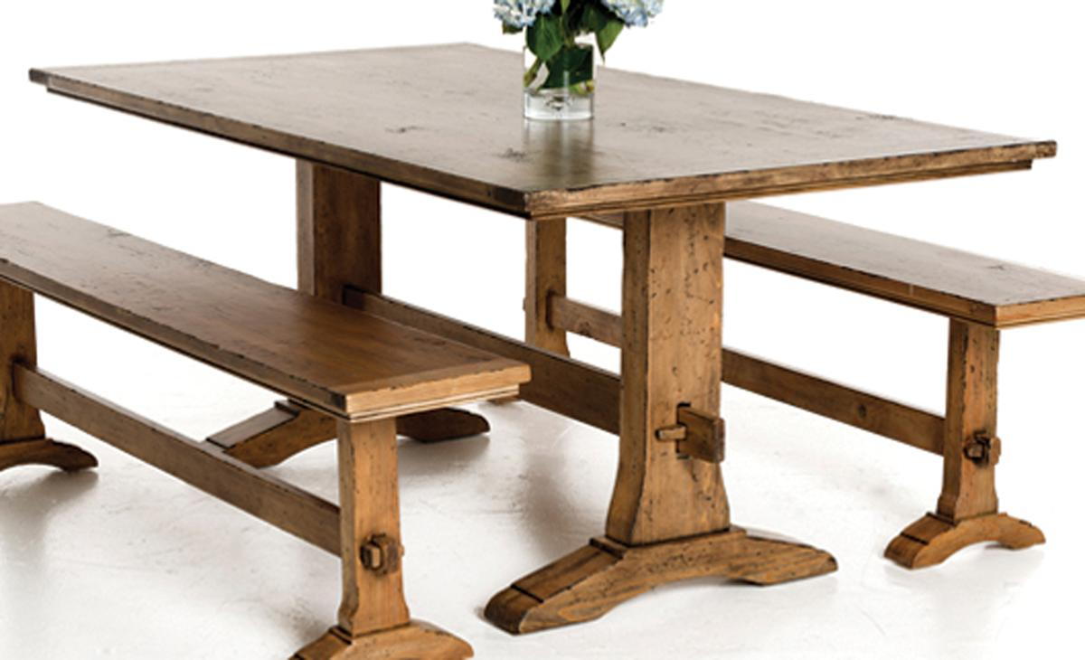 trestle table, pine earth finish | weiru0027s furniture ISPWPLY