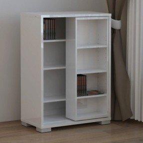 unique and modern dvd storage ideas : white simple dvd AKLMJOS