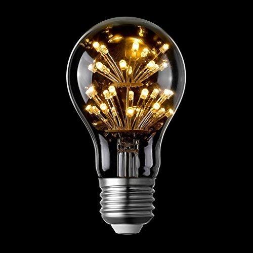 unique lighting lightstory starry led bulb, e26 base 2200k a19 edison decorative led light OMEKFJV
