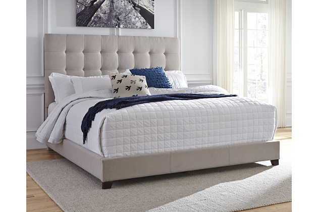upholstered beds beige dolante queen upholstered bed view 1 SIDDUUR