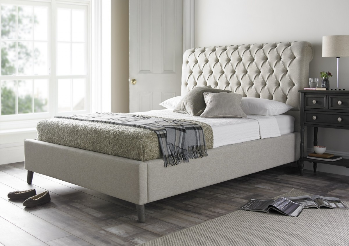 upholstered beds chester upholstered bed frame ... RHKJPKE