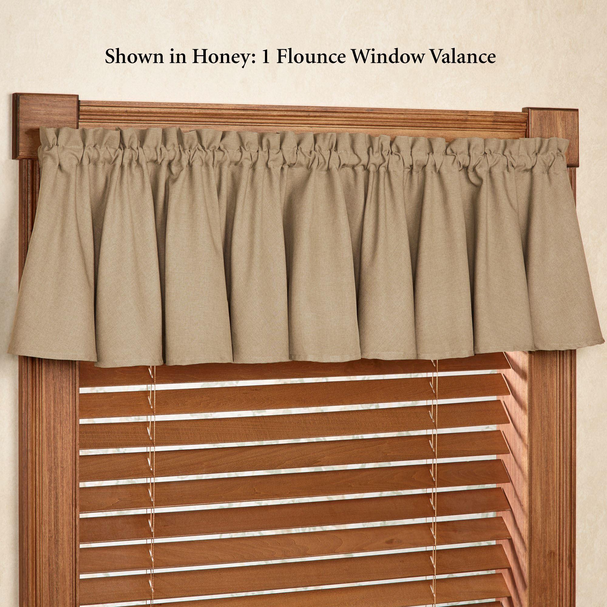 valance curtains glasgow solid color flounce window valance DWXIKUU