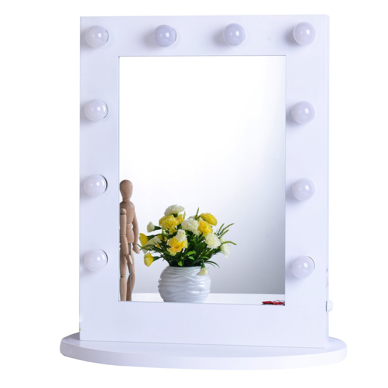 vanity mirrors amazon.com: chende white hollywood makeup vanity mirror with light  tabletops lighted mirror VSUBZFT