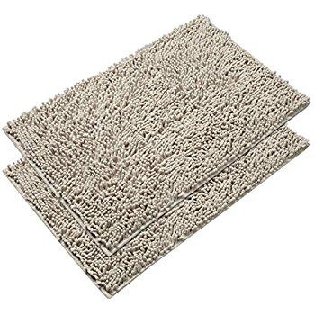 vdomus absorbent microfiber bath mat soft shaggy bathroom mats shower rugs JVWQOSC