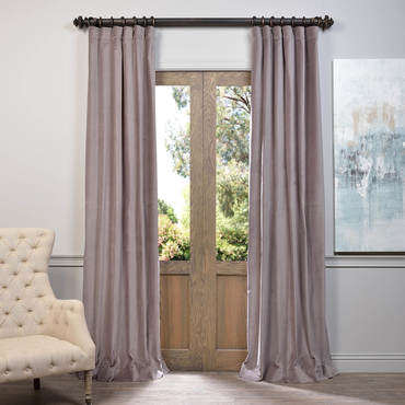 velvet curtains flint grey vintage cotton velvet curtain JMJLQAX