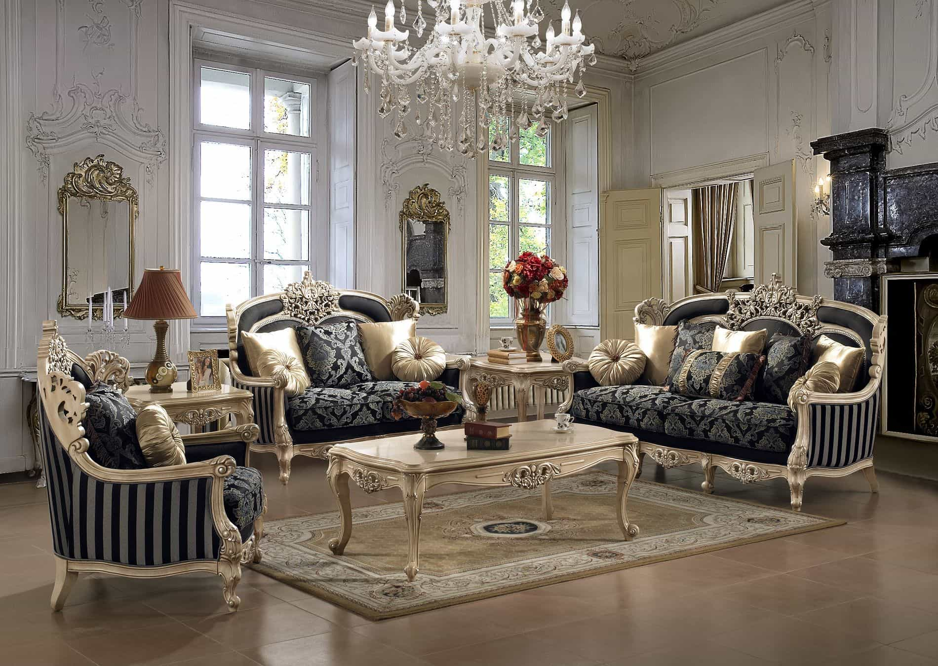 victorian living room elegant furniture HUAKFZM