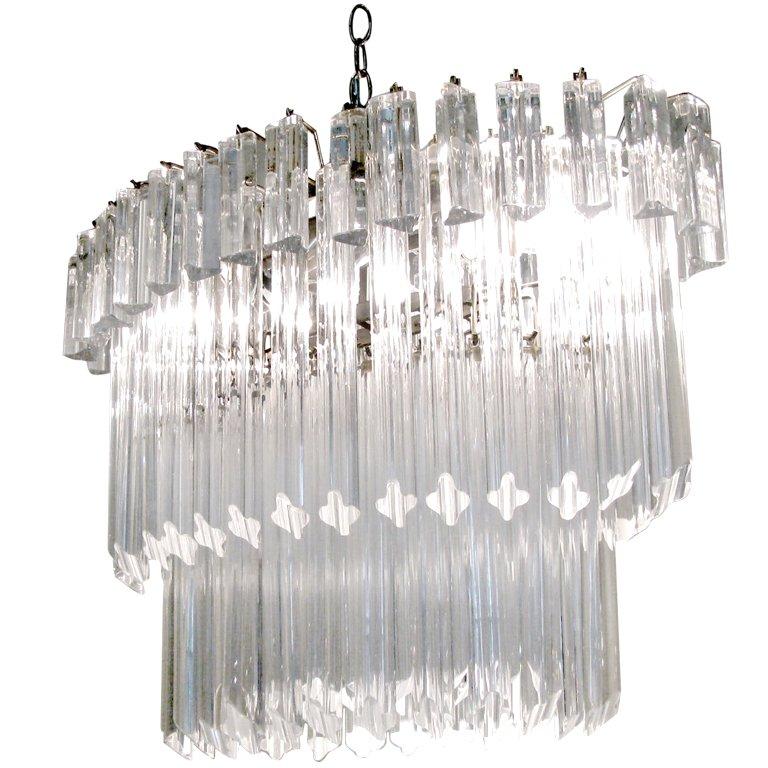 vintage italian murano glass chandelier by camer 1 MJRLEOC