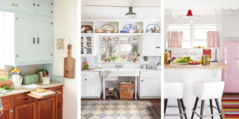 vintage kitchen the design elements in these cozy kitchens take inspiration from an earlier XAESJWJ