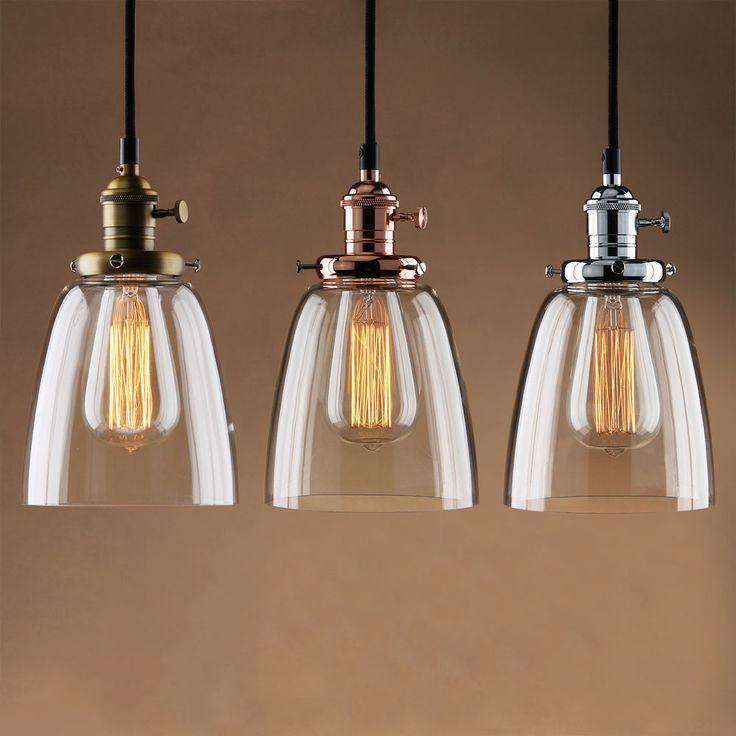 vintage lighting adjustable vintage industrial pendant lamp cafe glass brass chrome shade  light #twofaces JNRRIAQ