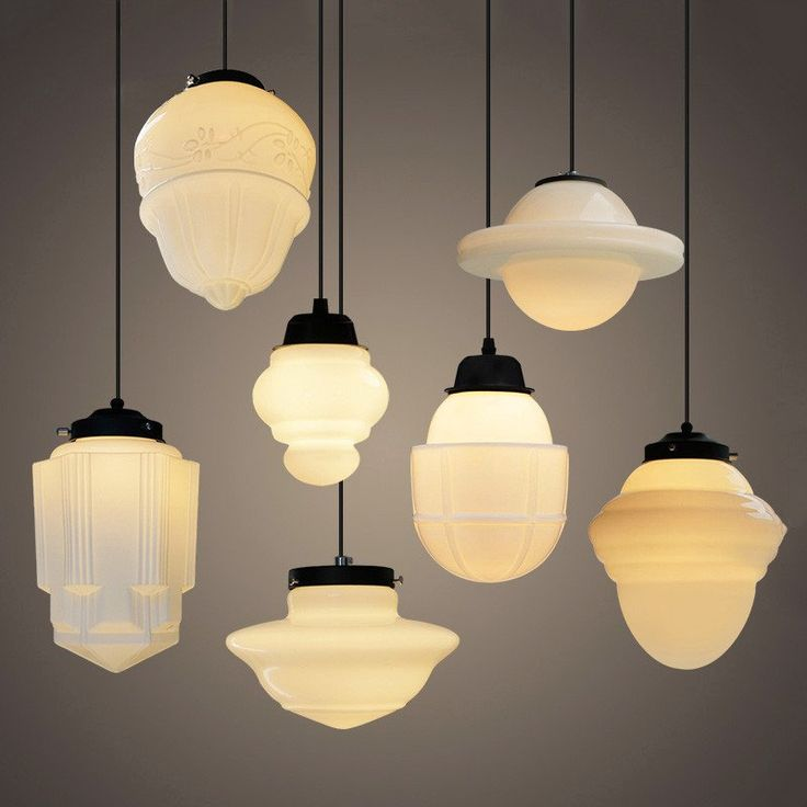 vintage lighting art deco milk glass pendant light #art-deco #glass | tudo u0026 co LJCAPED