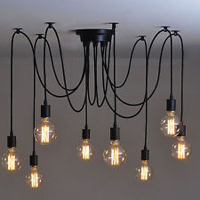 vintage lighting vintage multiple ajustable diy ceiling spider lamp light pendant lighting  edison GOIYXTI