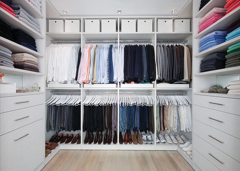 walkin closet impressive yet elegant walk-in closet ideas - freshome.com PABJCWD