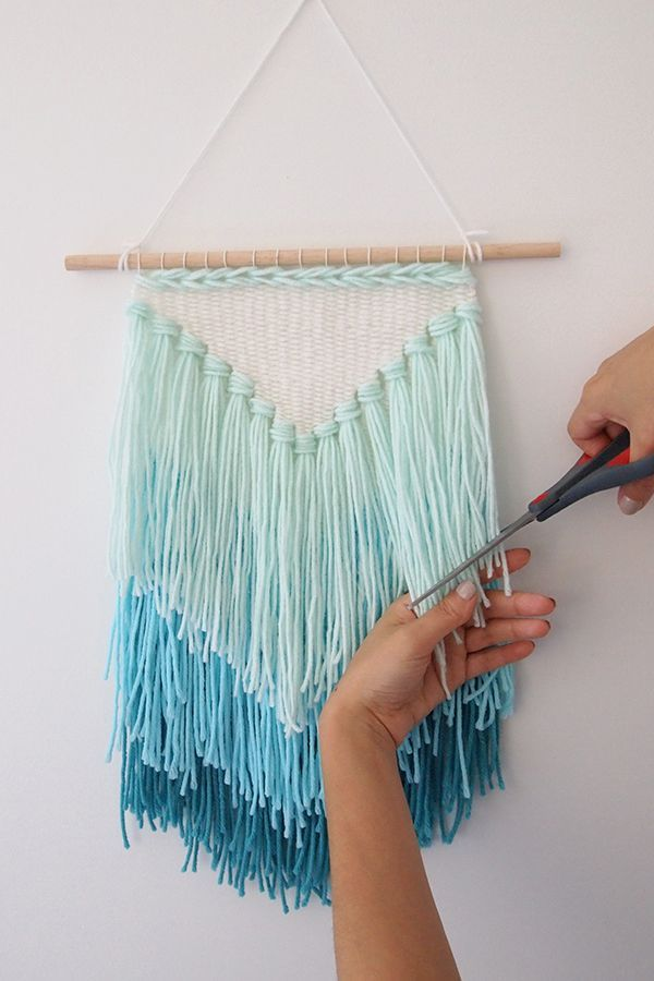 wall hangings diy weaving: how to make a tassel wall hanging (mollie makes) TRWLEXM