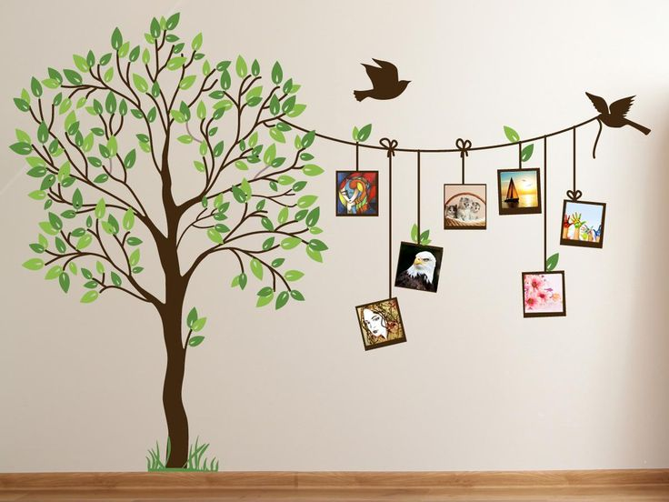 wall painting image of: cute family tree wall decal paint for bedrooms VANOBXT