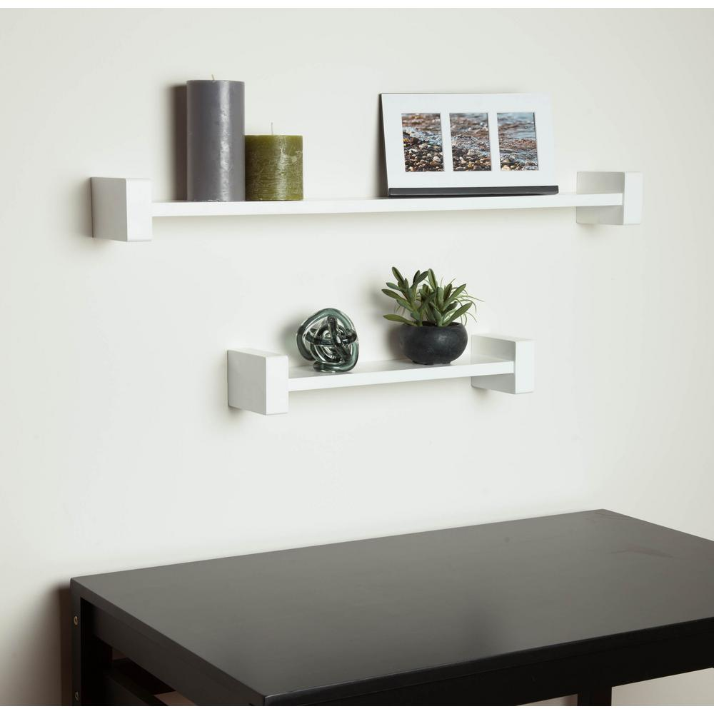 wall shelving h-shape white wall shelf decorative shelf-shf-04397 - the home depot AMTIBLN
