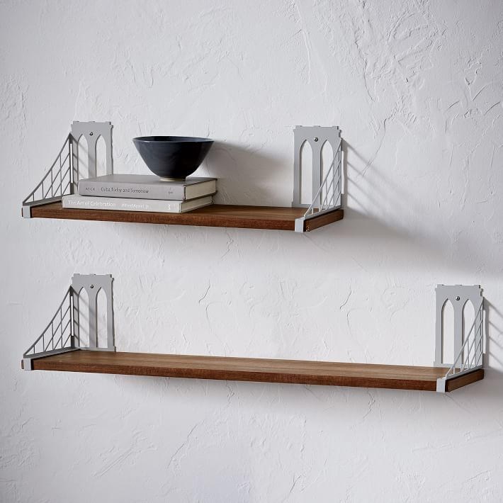 wall shelving mid-century shelving + brackets - brooklyn bridge | west elm UMGRMXU