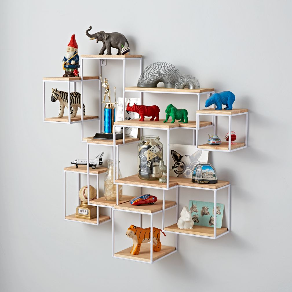 wall shelving network wall shelf | the land of nod JDVJUOC