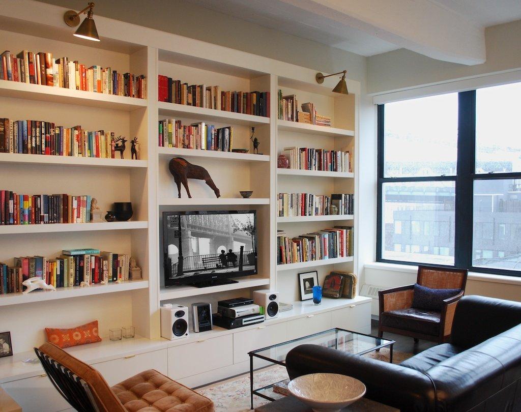wall units, built in wall bookshelves built in bookshelves with desk  apartment INWNXBZ